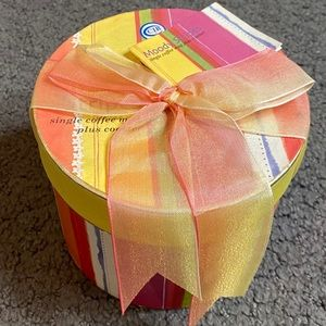 Moody Stripes Coffee Mug & Coaster New Gift Box